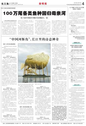 """""""中国河豚岛"""",长江里的诗意神奇"""